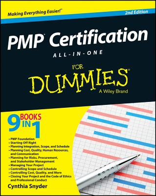 PMP Certification All-in-One for Dummies By Snyder, Cynthia Stackpole